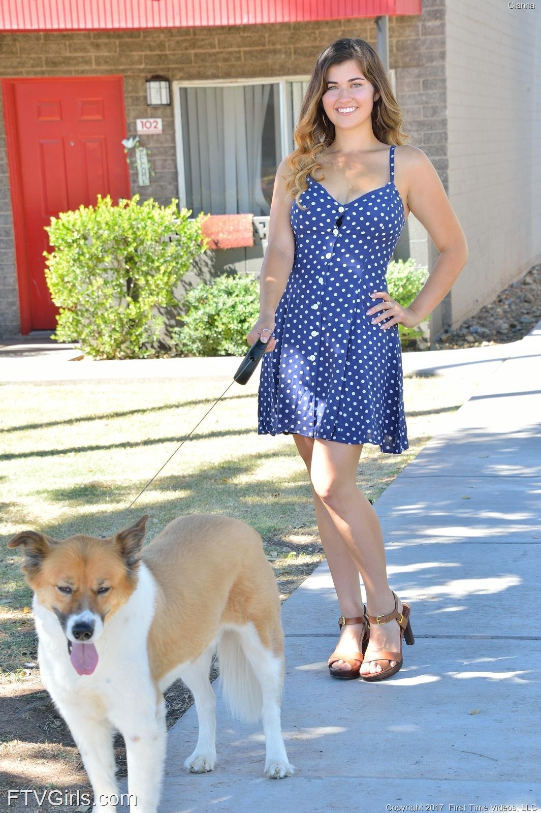FTV Girls Gianna Pretty Dog Walker - FTVGirls.com