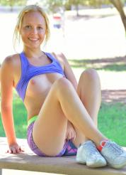Megan Flashing At The Park Picture 8